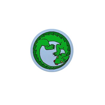 Coiled baby dragon Mini Button