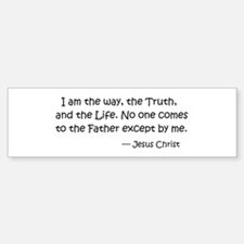 I am the way.... Jesus Christ Sticker (Bumper)
