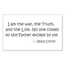I am the way.... Jesus Christ Decal