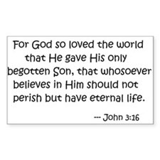 For God so loved the world... Decal