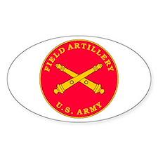 Field Artillery Plaque Oval Decal