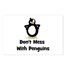 Don't Mess with Penguins Postcards (Package of 8)