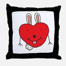 Heart Bunny Throw Pillow