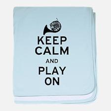 Keep Calm Horn baby blanket