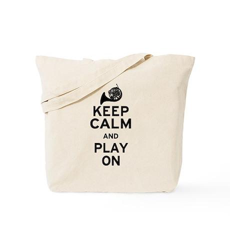 Keep Calm Horn Tote Bag