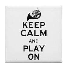 Keep Calm Horn Tile Coaster