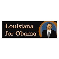 Louisiana for Obama bumper sticker