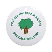 Geocache Ornament (Round)