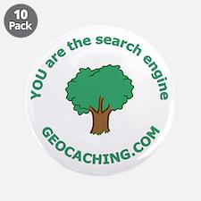 """Geocache 3.5"""" Button (10 pack)"""