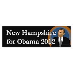New Hampshire for Obama 2012 sticker