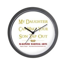 MMA - Daughter 2 - Wall Clock