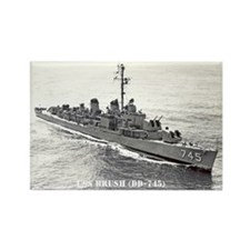 USS BRUSH Rectangle Magnet