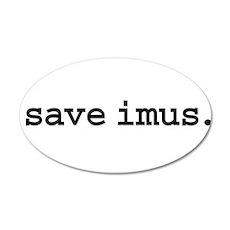 save imus. 22x14 Oval Wall Peel