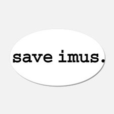 save imus. 22x14 Oval Wall Peel