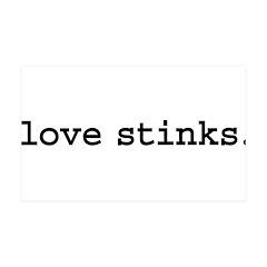 love stinks. 38.5 x 24.5 Wall Peel