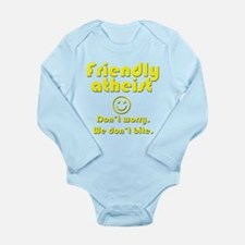 Friendly Atheist Long Sleeve Infant Bodysuit