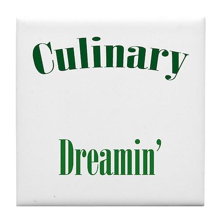 Culinary Dreamin' green Tile Coaster