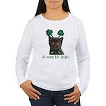 Shamrock Kitten Women's Long Sleeve T-Shirt