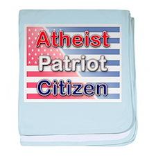 Atheist, Patriot, Citizen baby blanket