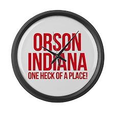 Orson, Indiana Large Wall Clock