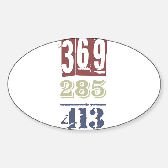 Numbers Decal
