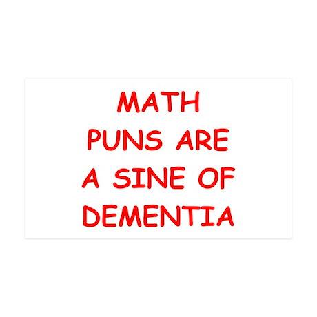 funny math joke 38.5 x 24.5 Wall Peel