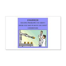 engineer engineering joke 22x14 Wall Peel