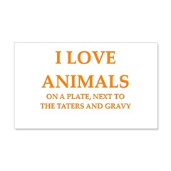 i love animals 22x14 Wall Peel