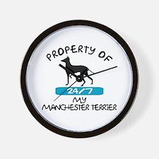 Manchester Terrier Wall Clock