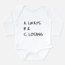 Glengarry ABC Long Sleeve Infant Bodysuit
