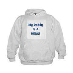 My Daddy Is A Hero - Blue/Boy Hoodie