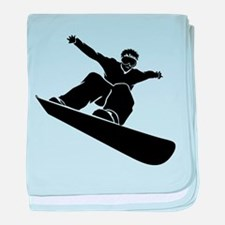 Go Snowboarding! baby blanket