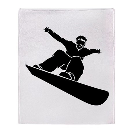 Go Snowboarding! Throw Blanket