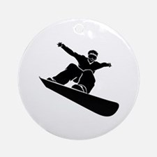 Go Snowboarding! Ornament (Round)