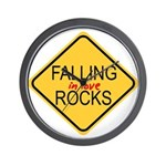 Falling In Love Rocks Wall Clock