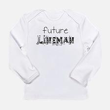 Future Lineman Long Sleeve Infant T-Shirt