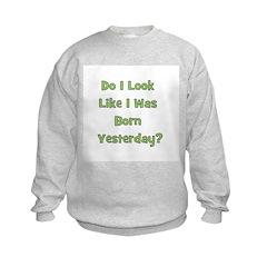 Born Yesterday? - Green Sweatshirt