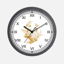 Gold Rooster Wall Clock