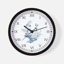 Blue Rooster II Wall Clock