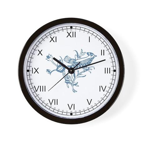 Blue Bird Wall Clock