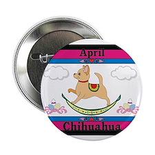 "Chihuahua Calendar Rocking Dog 2.25"" Button (100 p"