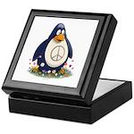Peace Penguin Keepsake Box