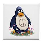 Peace Penguin Tile Coaster