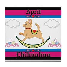 Chihuahua Calendar Rocking Dog Tile Coaster