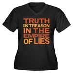 Truth is Treason Women's Plus Size V-Neck Dark T-S