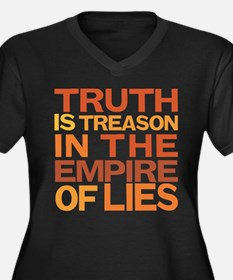 Truth is Treason Women's Plus Size V-Neck Dark T-S