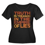 Truth is Treason Women's Plus Size Scoop Neck Dark