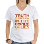 Truth is Treason Women's V-Neck T-Shirt