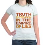 Truth is Treason Jr. Ringer T-Shirt