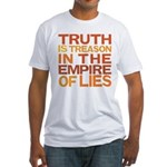 Truth is Treason Fitted T-Shirt